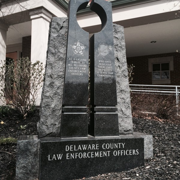 Del Co. Law Enforcement Sign (2)